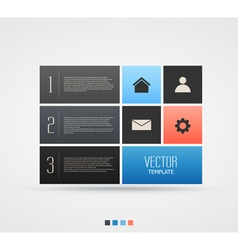 Website template design with infographic steps vector