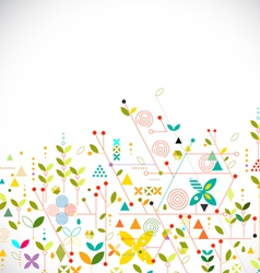 Abstract geometric template go green concept vector