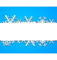 Background from snowflakes vector image