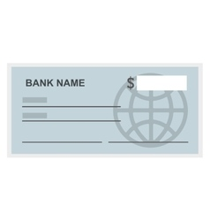 Bank check isolated icon design vector