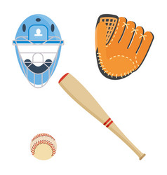 baseball equipment icon vector image vector image