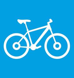 Bike icon white vector