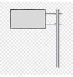 Blank big billboard mockup realistic style vector