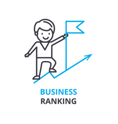 business ranking concept outline icon linear vector image