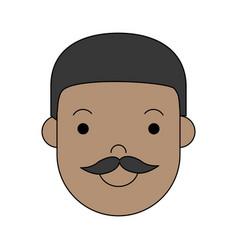 cartoon man icon vector image vector image