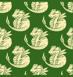 chinese dragon silhouettes tattoo mythology vector image