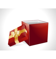 Christmas gift box in red vector image vector image