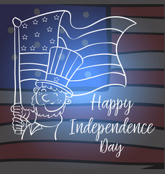 Collection stock of independence day card vector