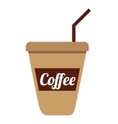 cup coffee isolated icon design vector image vector image