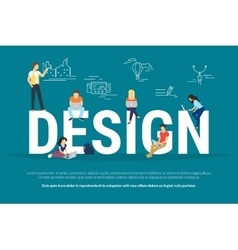 Design concept of young people using vector image
