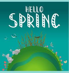 earth concept hello spring vector image vector image