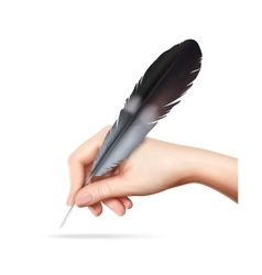Feather In Hand vector image vector image