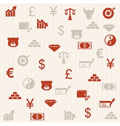 Finance seamless pattern 2 vector image vector image