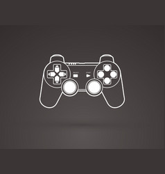 Game joystick graphic vector