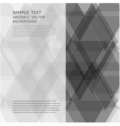 Geometric gray triangle abstract background with vector