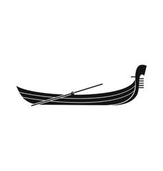 Gondola icon simple style vector