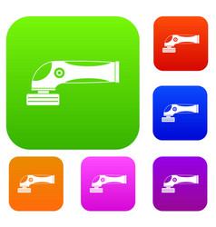 grinder machine set color collection vector image vector image