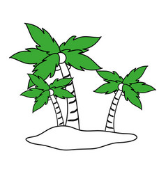 Island icon design vector