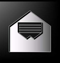 Letter in an envelope sign vector