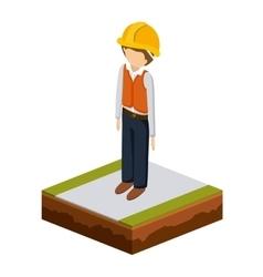 Man of under construction design vector
