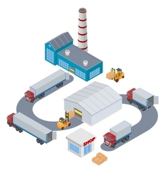 Manufacture logistic infographic vector