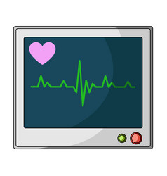 Medical monitormedicine single icon in cartoon vector