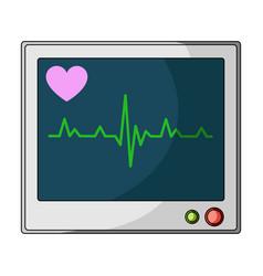 medical monitormedicine single icon in cartoon vector image