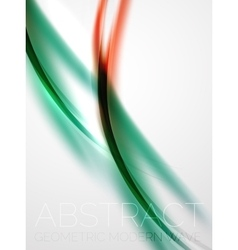 Modern curve stripes template vector image