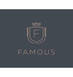 Premium monogram letter f initials ornate vector