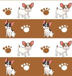 Seamless design with a dog vector