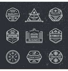 Set of black and white hipster modern vector