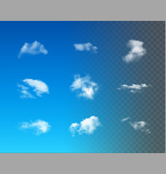 Set of realistic clouds vector