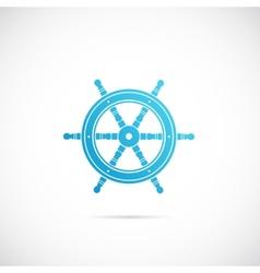 Steering Wheel Symbol Icon or Label vector image