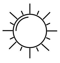 the sun icon vector image