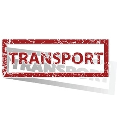 Transport outlined stamp vector