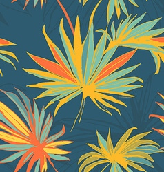 Tropical jungle floral seamless pattern background vector