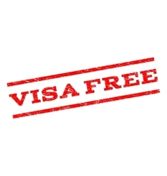 Visa free watermark stamp vector