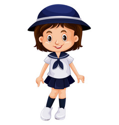 Young kid in school uniform vector