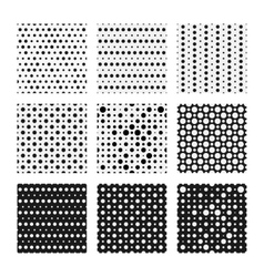 Seamless dots patterns set backgrounds vector
