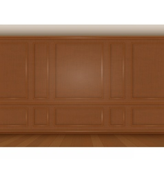 wooden wall panel vector image