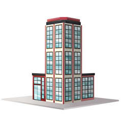 Architecture design for office building with many vector