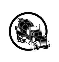 Image of a black pickup truck in a realistic style vector