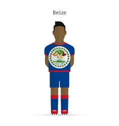 Belize football player soccer uniform vector