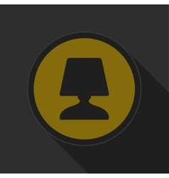 Dark gray and yellow icon - lamp vector