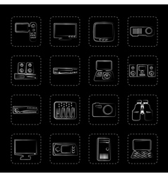 Hi-tech equipment icons vector