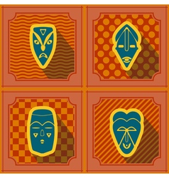 Seamless background with african ritual masks vector