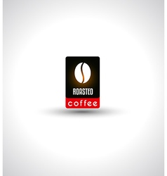 Conceptual coffee text with stylized icon to use vector