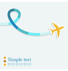 Background with airplane and colorful jet vector