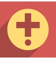 Pharmacy flat longshadow square icon vector