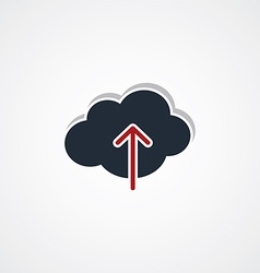 Cloud upload sign theme vector